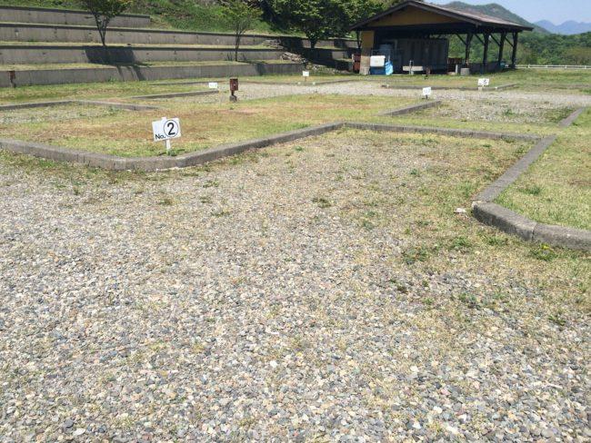 大笹牧場オートキャンプ場上段サイト