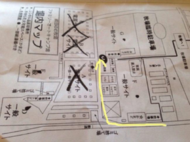 成田ゆめ牧場キャンプ場サイト図