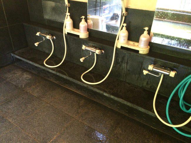 開運の湯洗い場