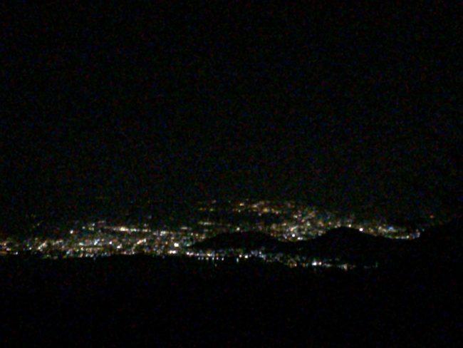 だるま山高原キャンプ場夜景