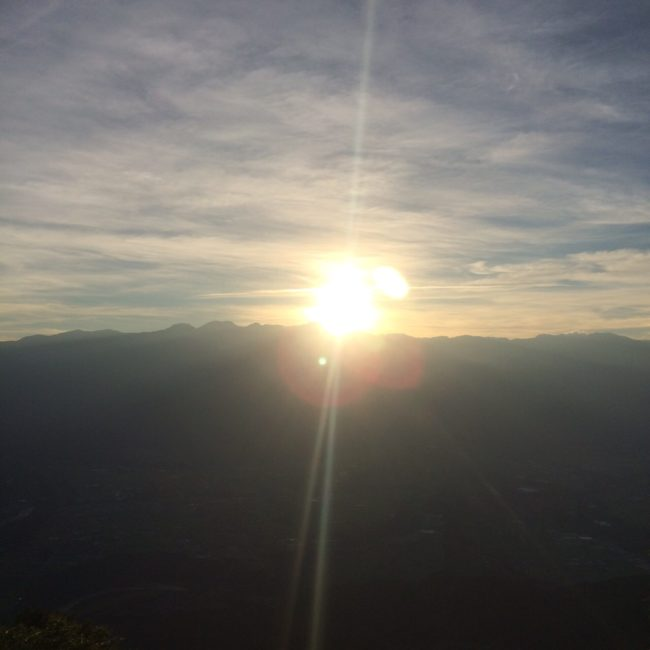 陣馬形山キャンプ日の出