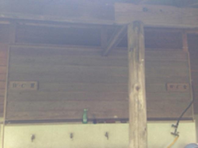 天城ふるさと広場キャンプ場トイレ入口