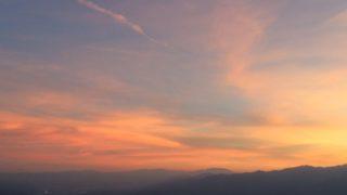 陣馬形山キャンプ 夕日