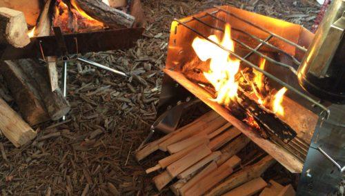 薪グリルと焚き火