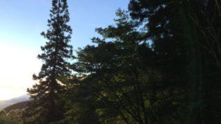 小黒川渓谷キャンプ場からの景色