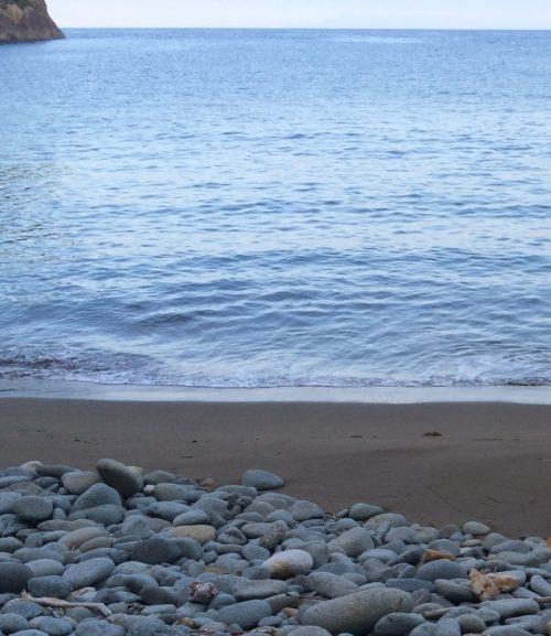 黄金崎海水浴場出艇