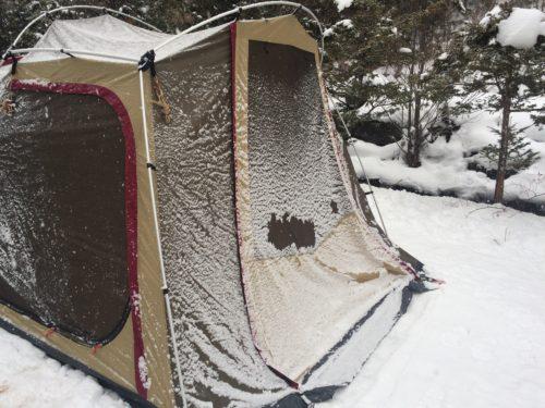 雪中キャンプポルヴェーラ34