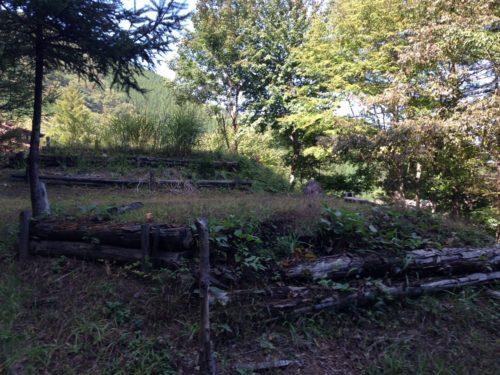 なんもく村自然公園キャンプ場 キャンプサイトの上段サイト