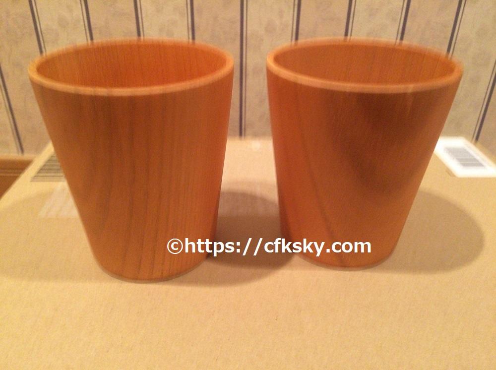 購入したキャンプアイテム木製フリーカップ