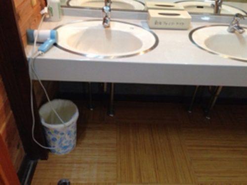 新治ファミリーランド温泉棟の洗面所