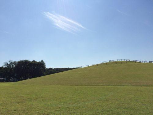 三王山ふれあい公園オートキャンプ場 サイトからの眺め