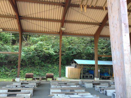 なんもく村自然公園キャンプ場オートサイト バーベキュー設備