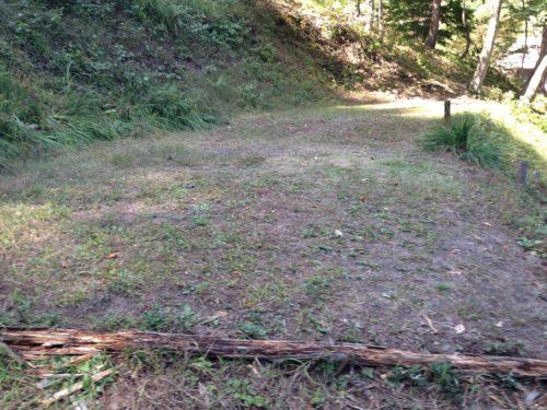 なんもく村自然公園キャンプ場 のキャンプサイトサイト区画