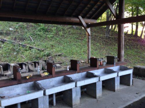 なんもく村自然公園キャンプ場 キャンプサイトの炊事場