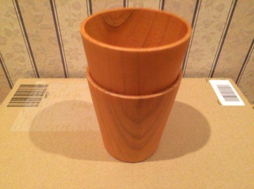 スタッキングもしやすい天然木製品のフリーカップ