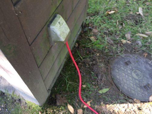 みどりの村キャンプ場オートサイト電源