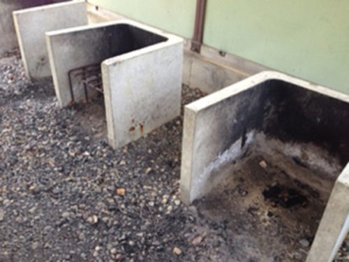 新治ファミリーランド炊事場にある炉