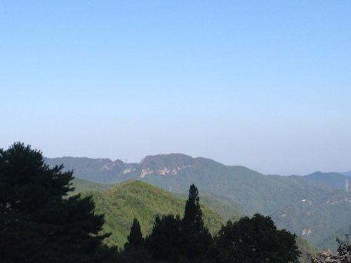 なんもく村自然公園キャンプ場 からの眺め