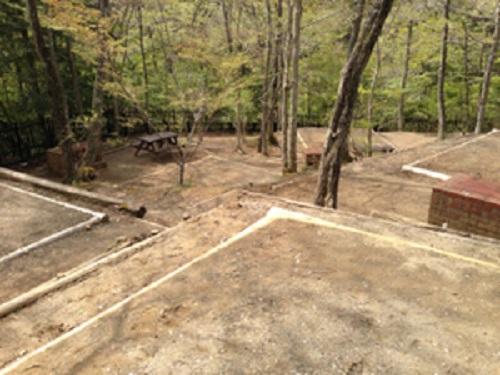 清和県民の森キャンプ場の大サイトと小サイト