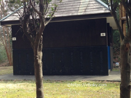 沼津市民の森キャンプ場のトイレ棟