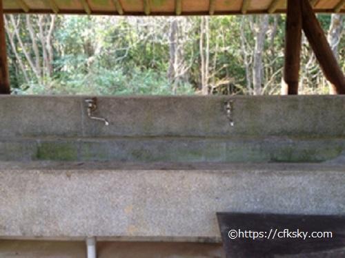 沼津市民の森キャンプ場炊事場