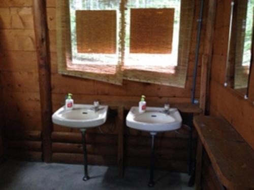 漁礁カオストイレの中手洗い場