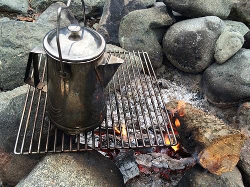 音久和キャンプ場の直火ができるサイト
