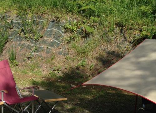 の漁礁カオスキャンプ場 利用したサイト後ろ側うの