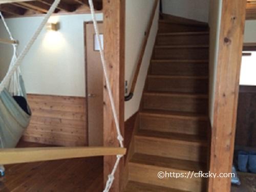 山中湖ヴィレッジ室内の階段