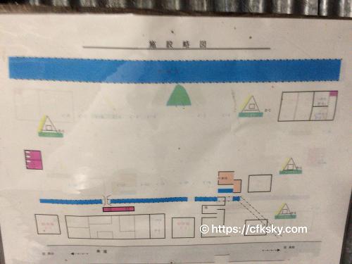 くるみ温泉キャンプ場サイト案内図
