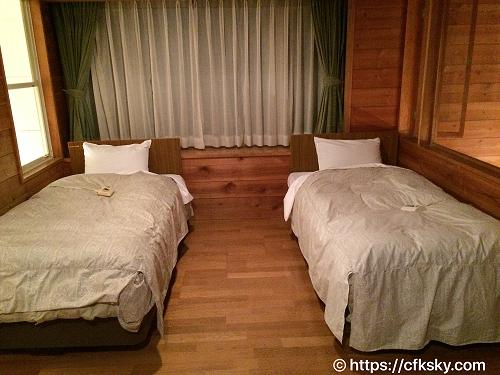 ホテルアンビエント蓼科コテージのベッドルーム