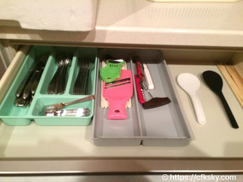 ホテルアンビエント蓼科コテージのキッチン調理器具