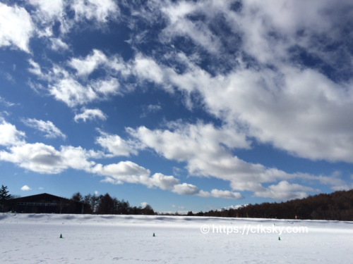 氷上散歩ができた女神湖