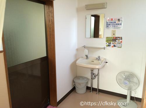 イレブンオートパキャンプパークシャワー室洗面