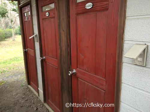 イレブンオートパキャンプパークの場内トイレ