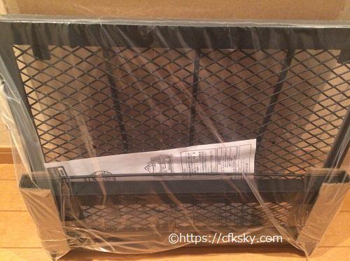 テントファクトリーFDテーブルシェルフの梱包写真