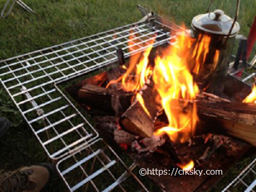 内山牧場キャンプ場で焚き火