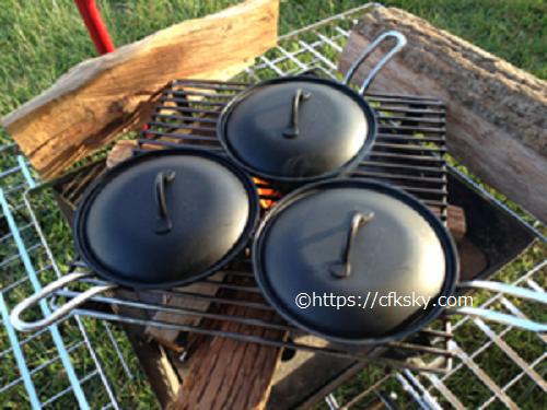 内山牧場キャンプ場でキャンプ料理