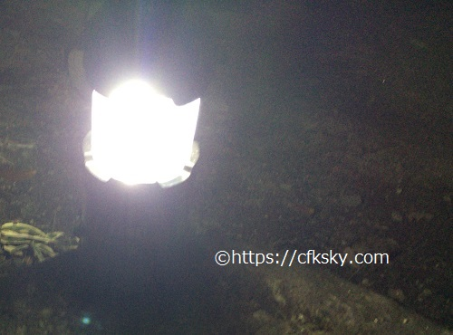 格安ランタンを買ってキャンプで使ってみたら便利で懐中電灯としても使えた