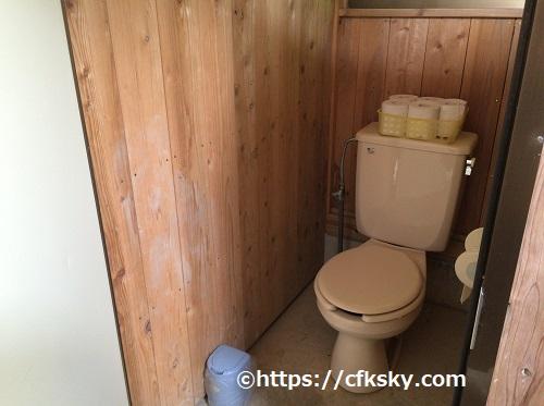 ワイルドキッズ岬キャンプ場のトイレ洋式