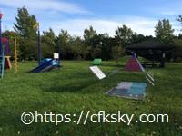 高須町公園オートキャンプ場 の向かいにあるせせらぎ公園の遊具