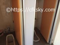 高須町公園オートキャンプ場 トイレ手洗い場の和式
