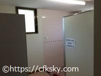 高須町公園オートキャンプ場 管理棟内にある洋式トイレ