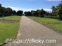 高須町公園オートキャンプオートサイト通路
