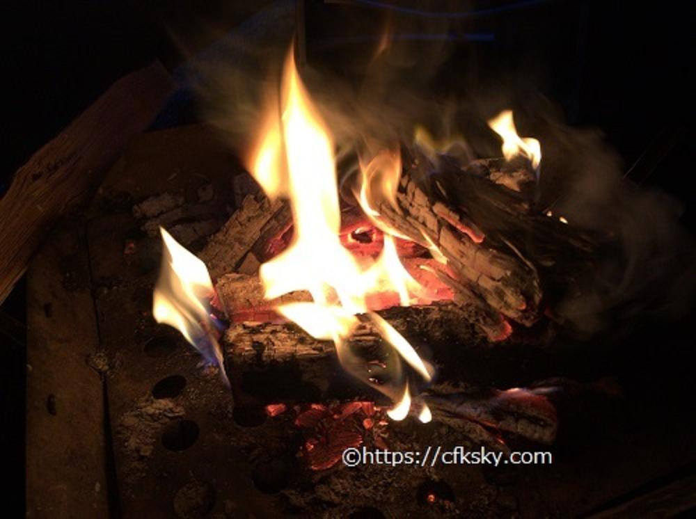 塩原グリーンビレッジ 風 焚き火
