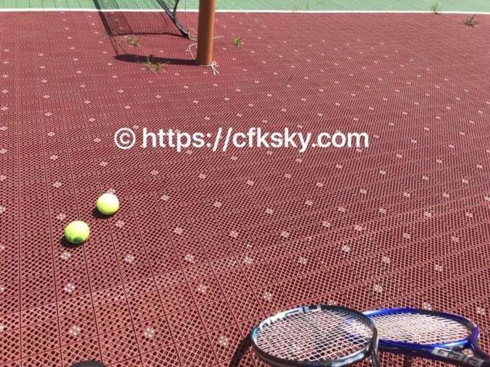 青根キャンプ場で楽しんだテニス