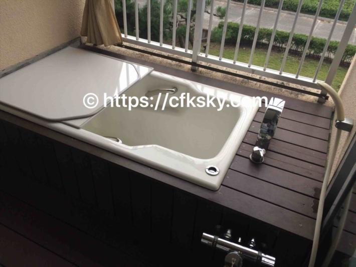 展望風呂の浴槽と洗い場