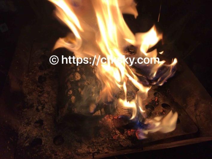 青根キャンプ場で楽しんだ焚き火
