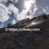 キャンプ場から絶景をみに岩登り