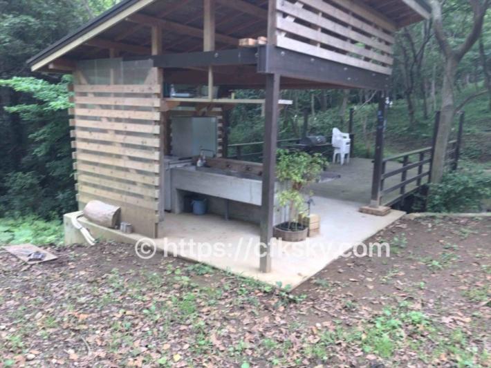ぼっちの森キャンプ場の炊事場入口